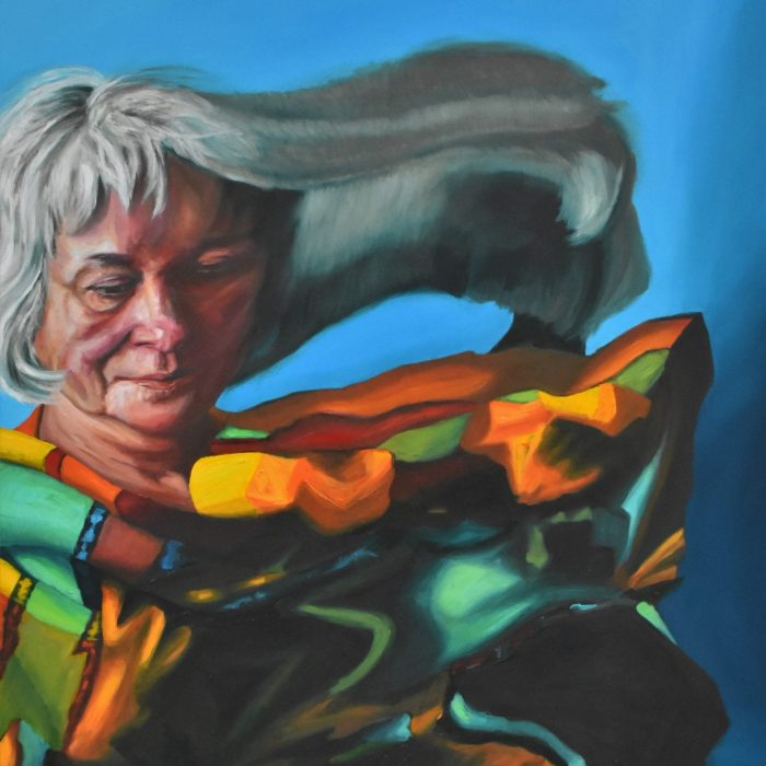 """""""Colorful Mother"""", 30""""x 24"""", Oil on Panel, 2018"""